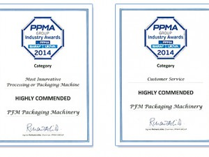 PFM highly commended twice in PPMA Group Awards
